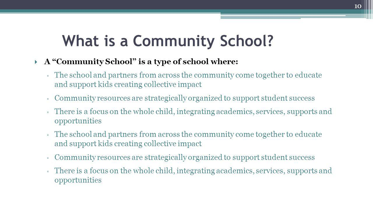 What is a Community School