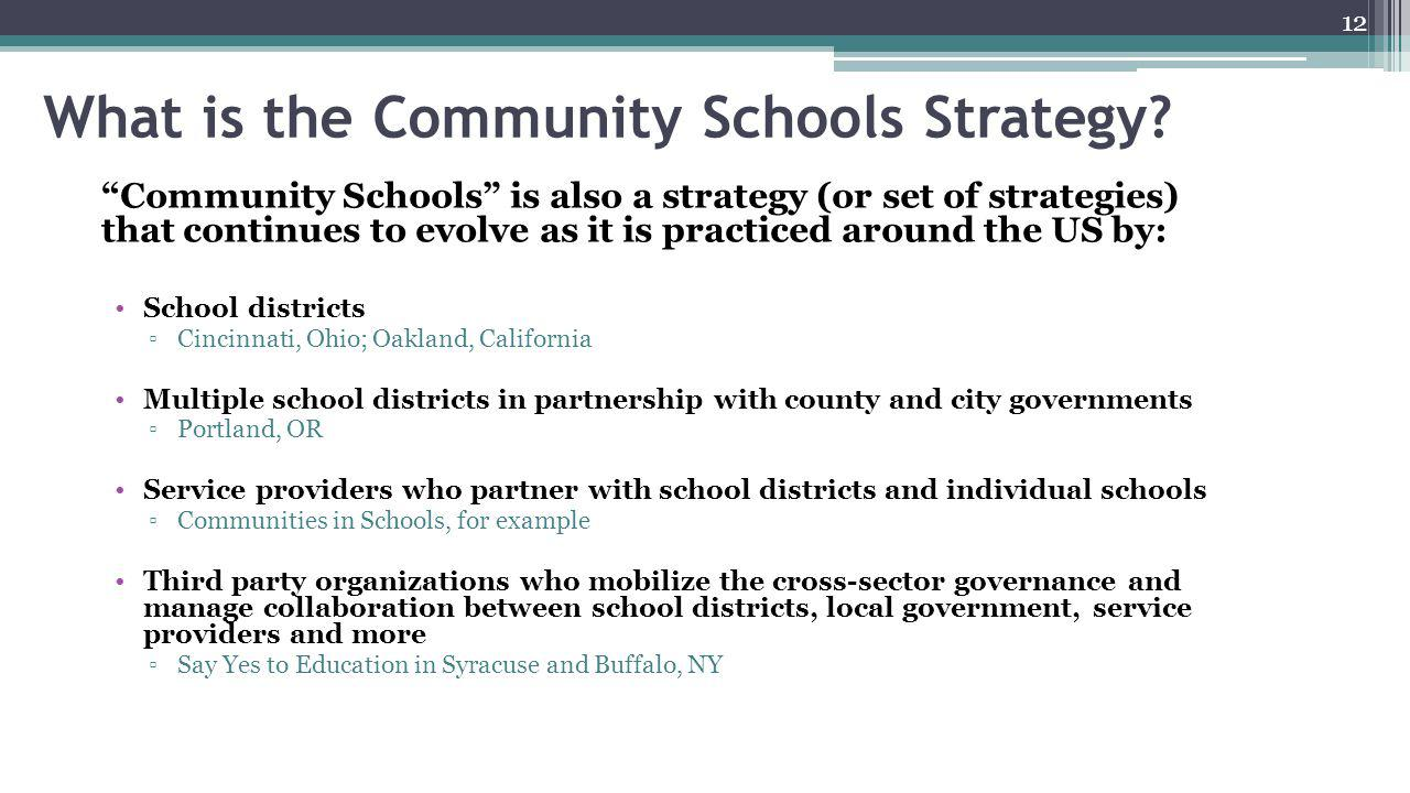 What is the Community Schools Strategy