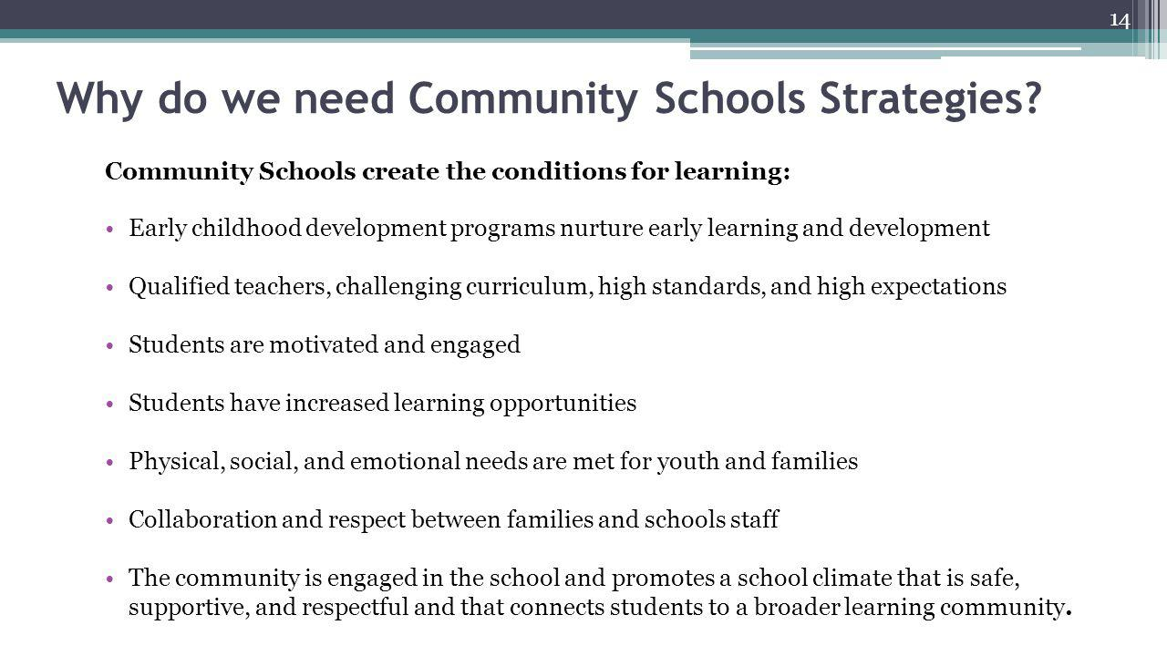 Why do we need Community Schools Strategies