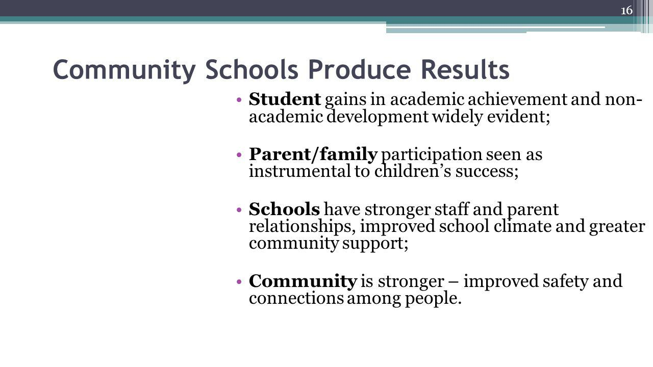 Community Schools Produce Results