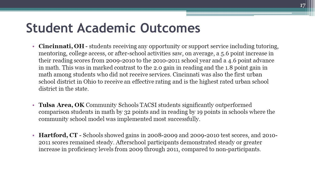 Student Academic Outcomes