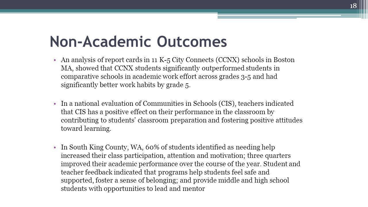Non-Academic Outcomes
