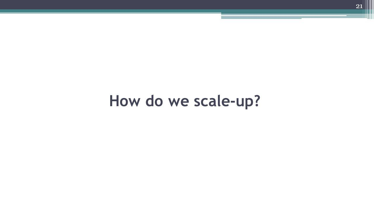 How do we scale-up