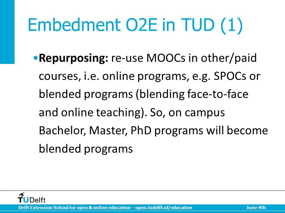 Embedment O2E in TUD (1)