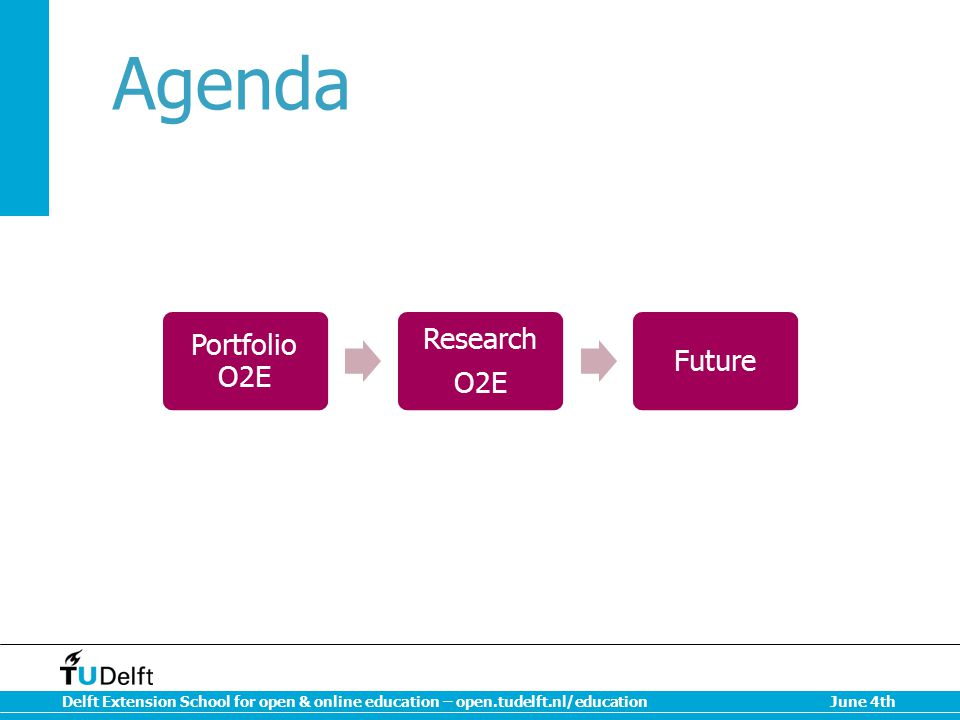 Agenda Portfolio O2E Research O2E Future