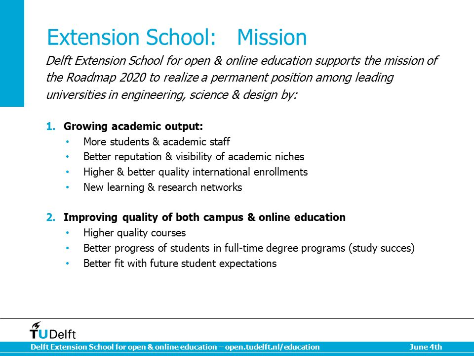 Extension School: Mission