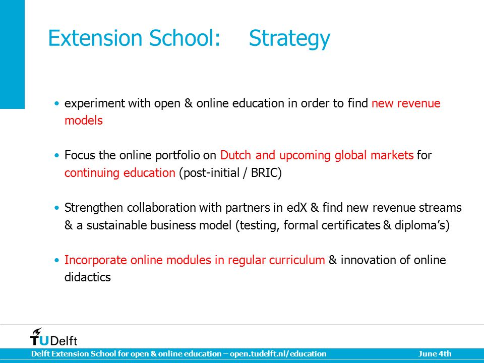 Extension School: Strategy