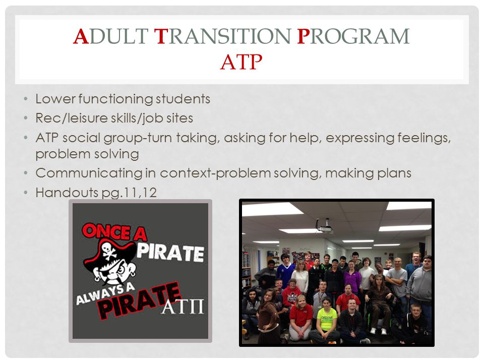 Adult Transition Program ATP