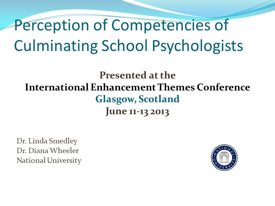 Perception of Competencies of Culminating School Psychologists