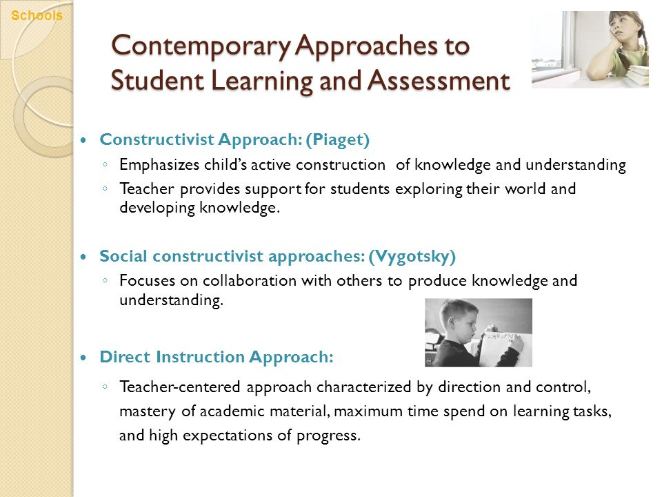 Contemporary Approaches to Student Learning and Assessment