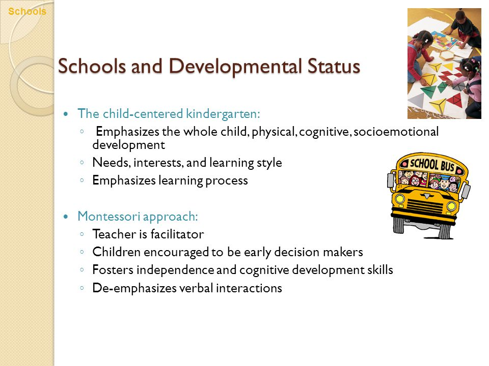 Schools and Developmental Status