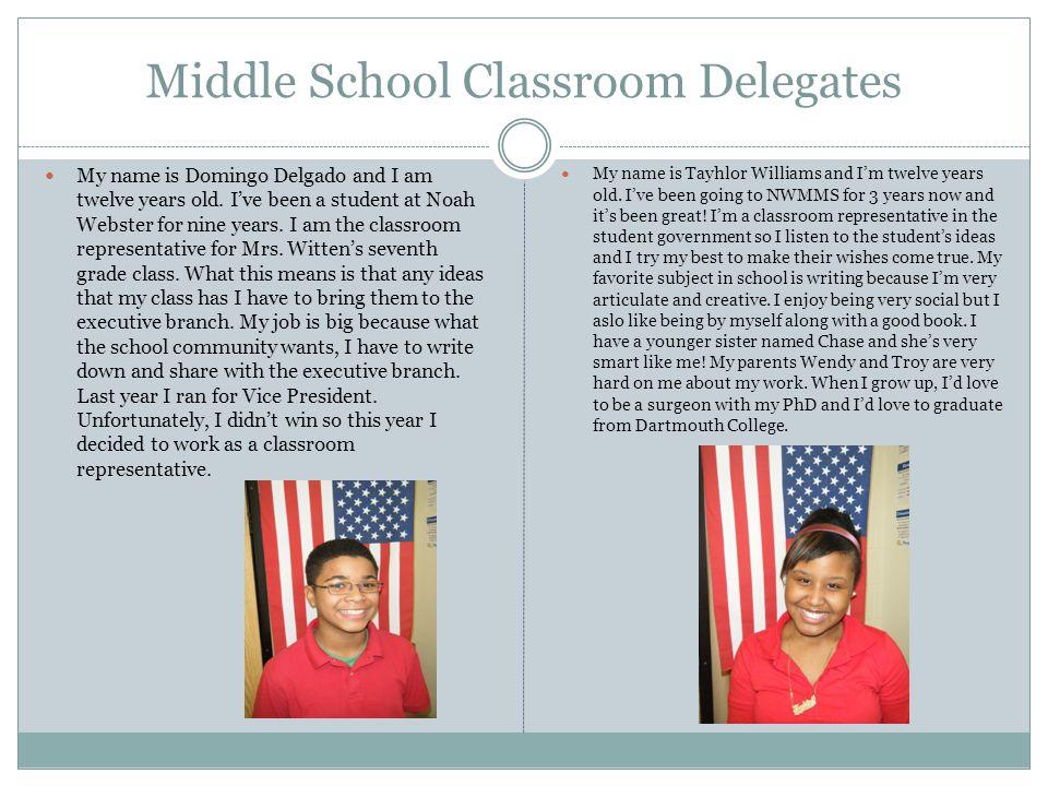 Middle School Classroom Delegates