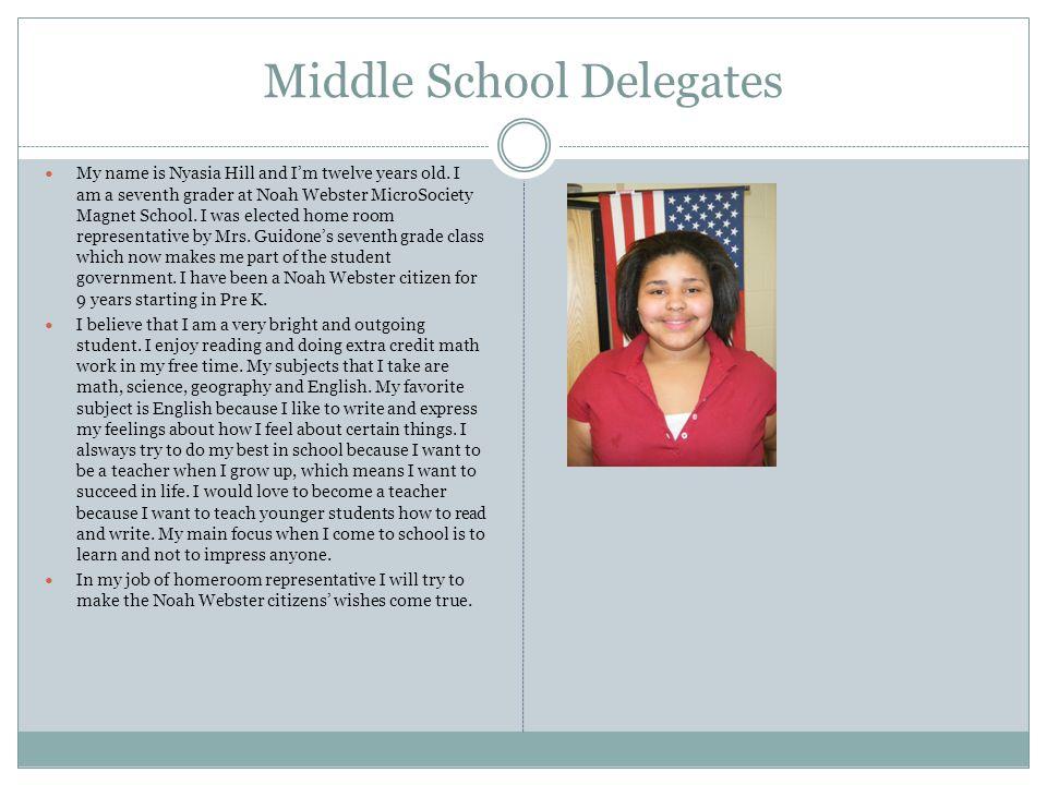Middle School Delegates