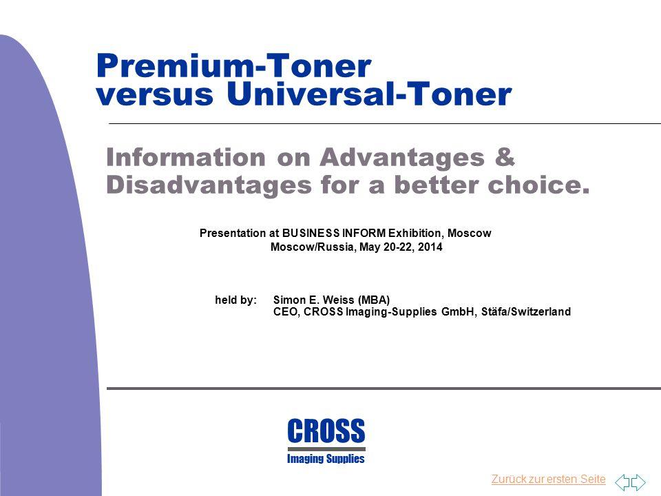 Premium-Toner versus Universal-Toner