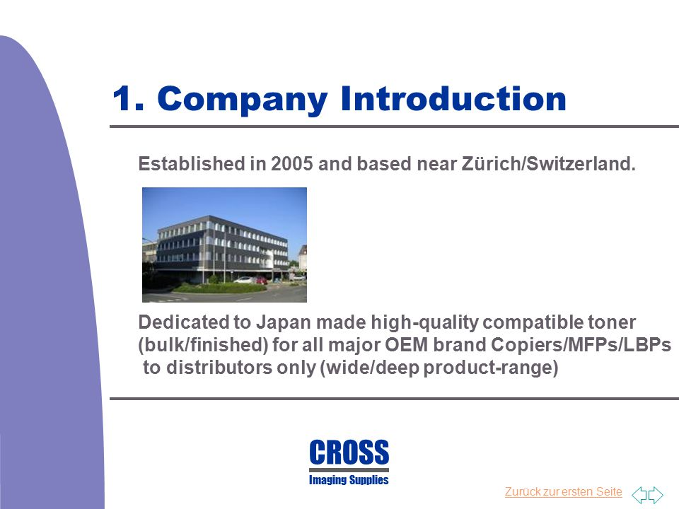 1. Company Introduction CROSS