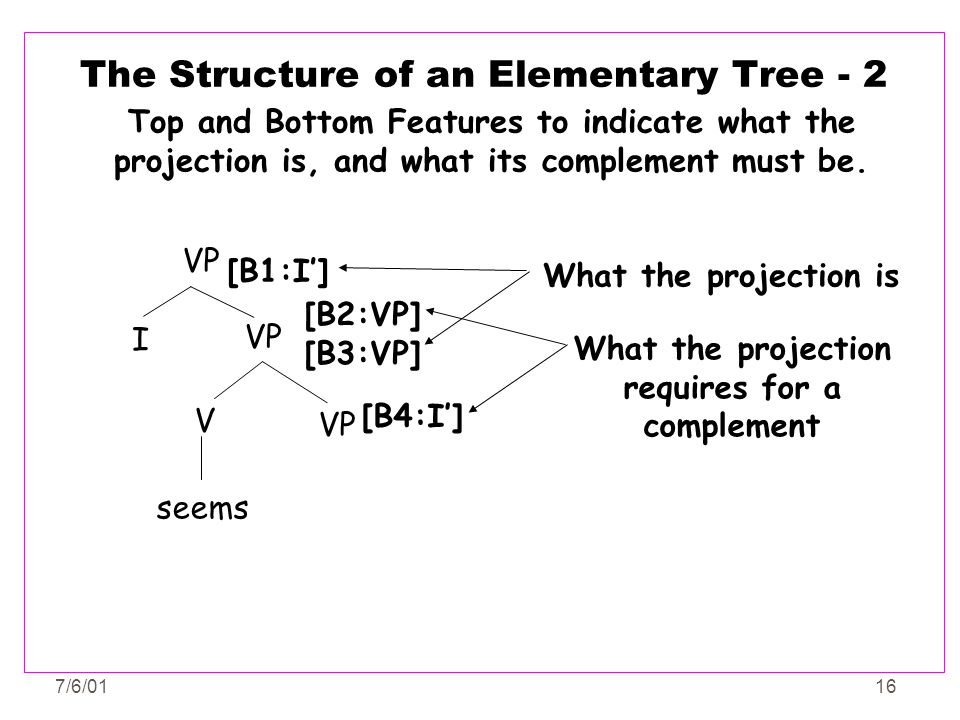 The Structure of an Elementary Tree - 2