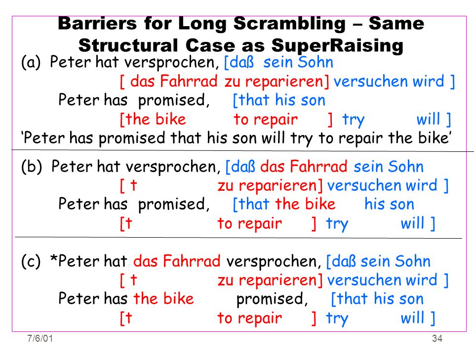 Barriers for Long Scrambling – Same Structural Case as SuperRaising
