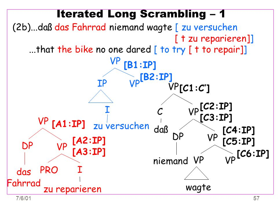 Iterated Long Scrambling – 1