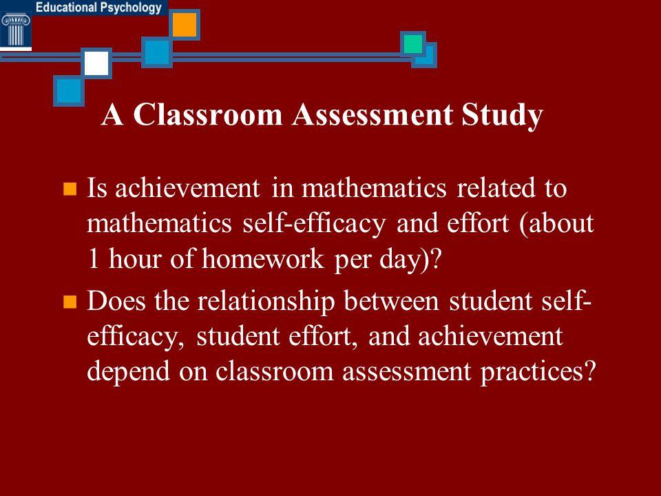 A Classroom Assessment Study