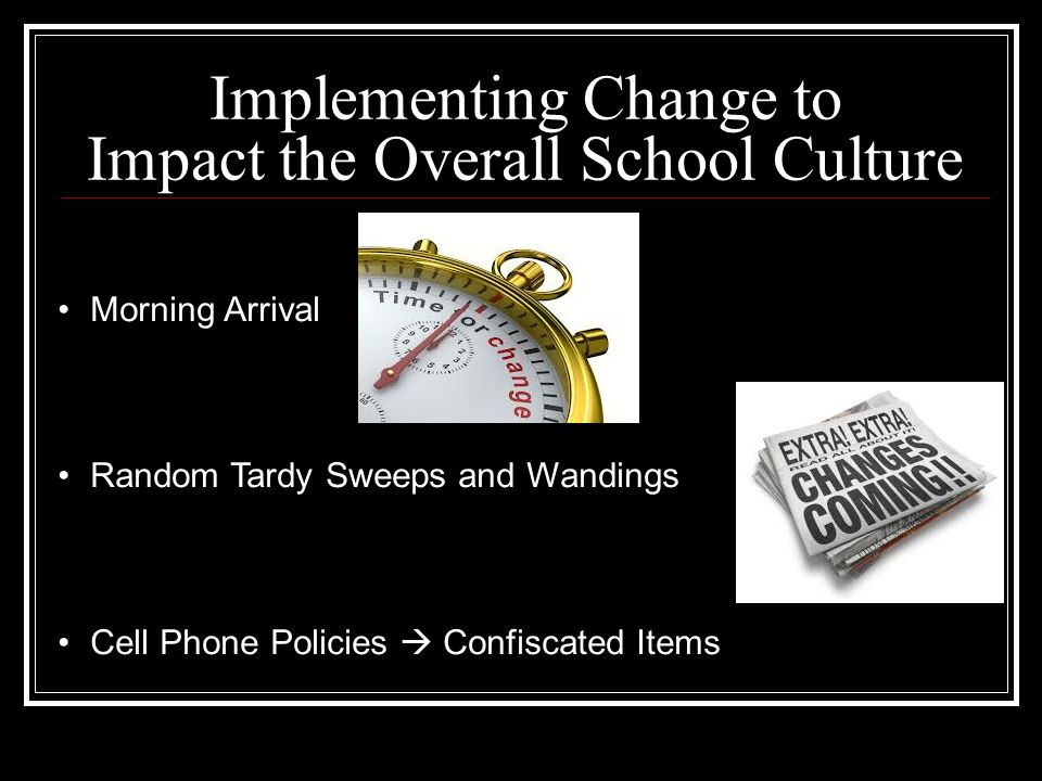 Implementing Change to Impact the Overall School Culture