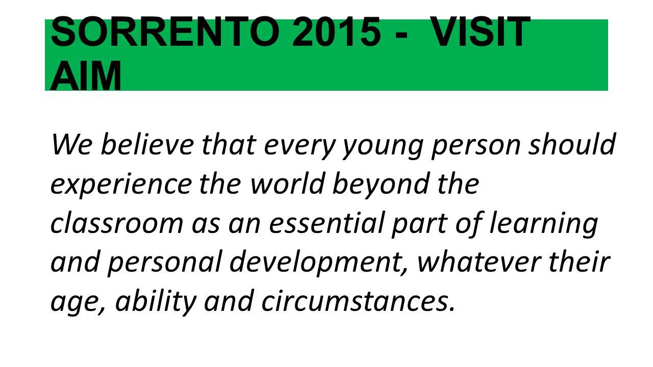 SORRENTO 2015 - VISIT AIM