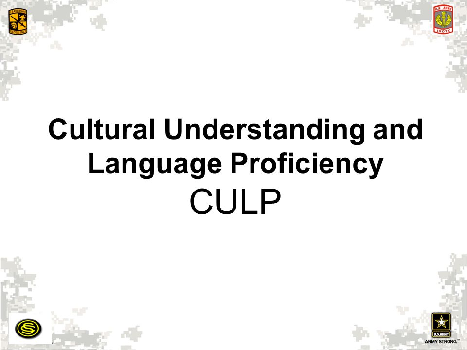 Cultural Understanding and Language Proficiency