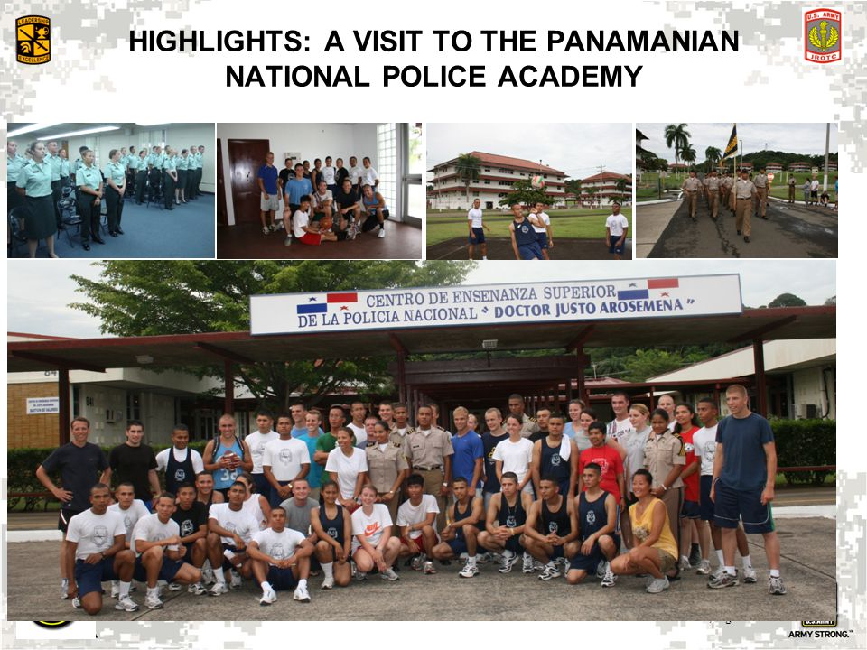 HIGHLIGHTS: A VISIT TO THE PANAMANIAN NATIONAL POLICE ACADEMY