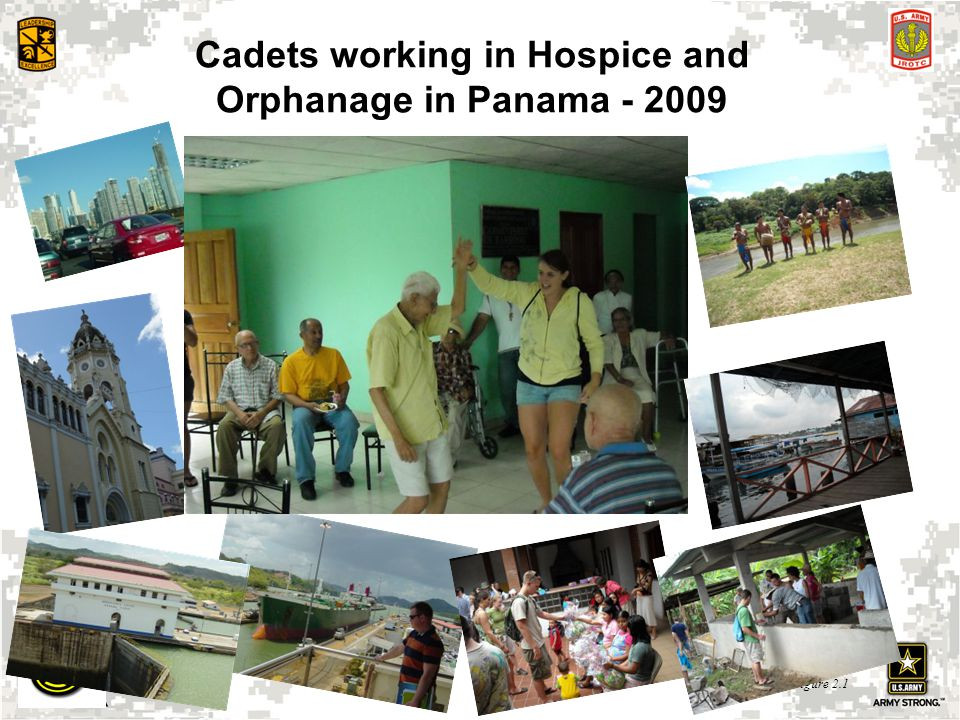 Cadets working in Hospice and Orphanage in Panama - 2009