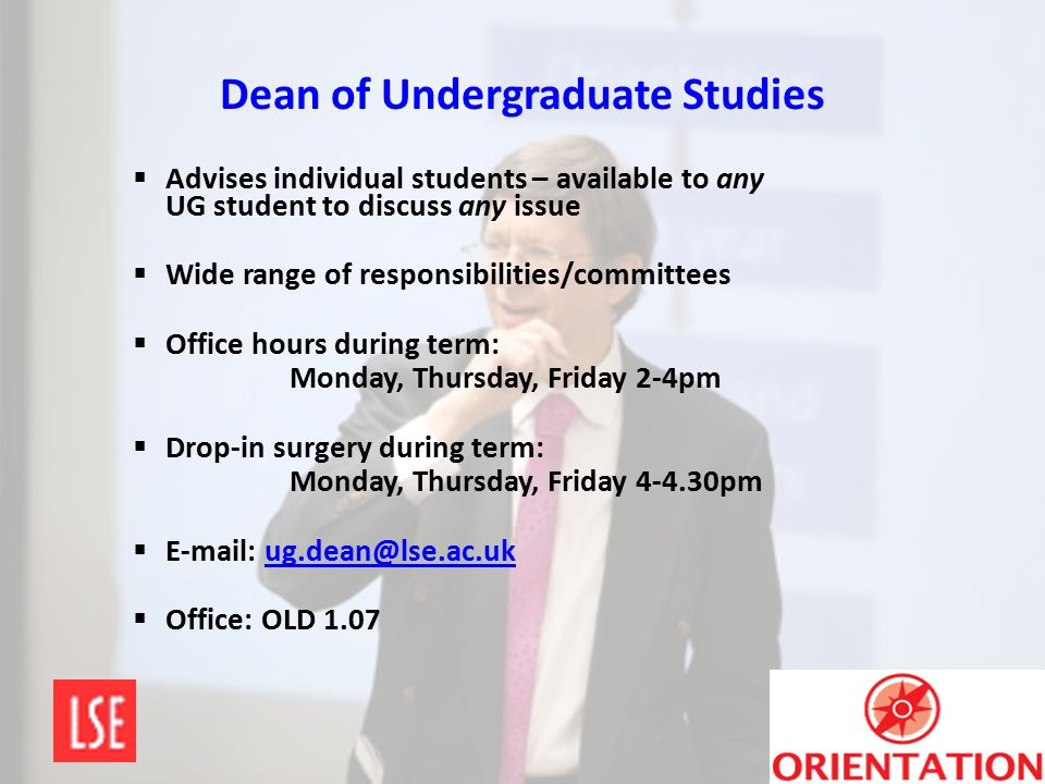 Dean of Undergraduate Studies