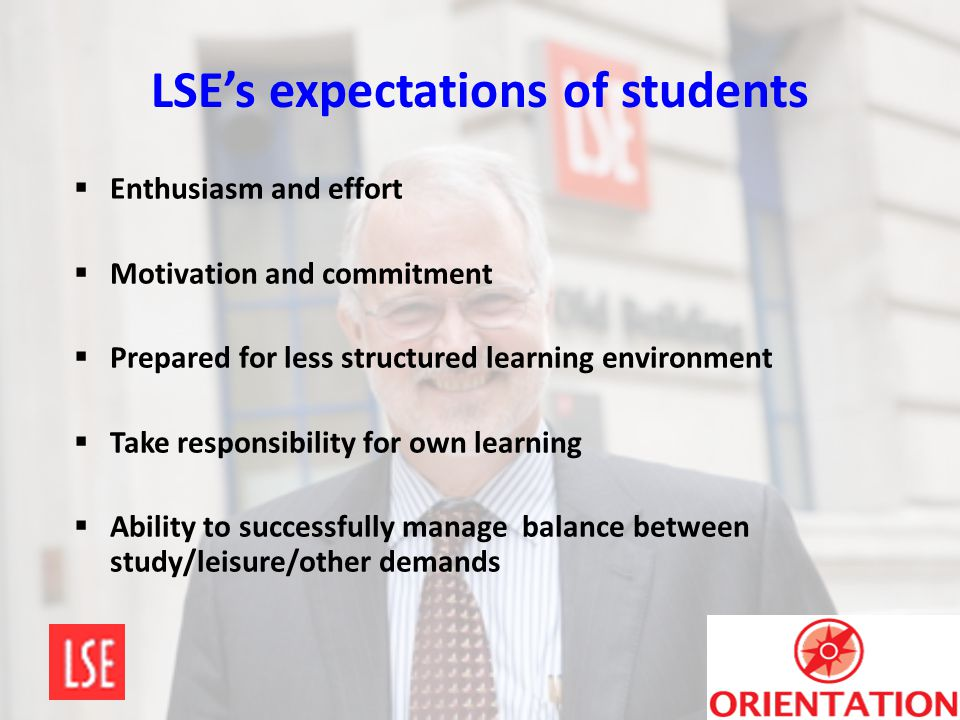LSE's expectations of students