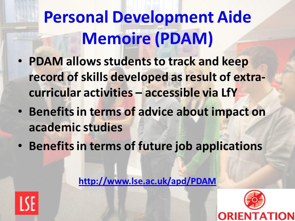 Personal Development Aide Memoire (PDAM)