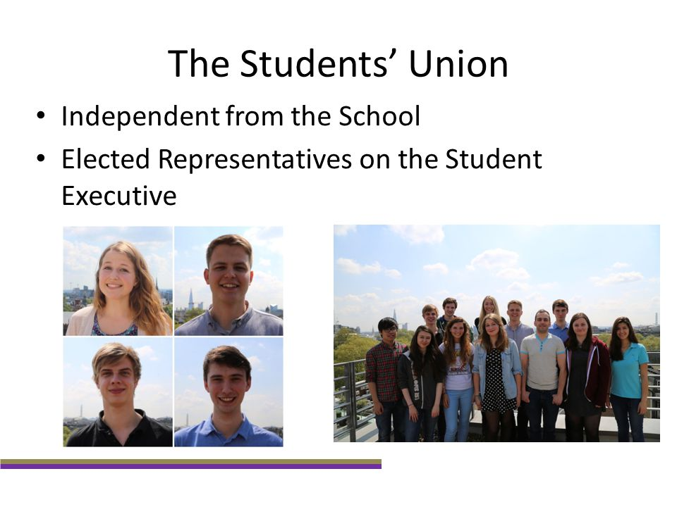 The Students' Union Independent from the School