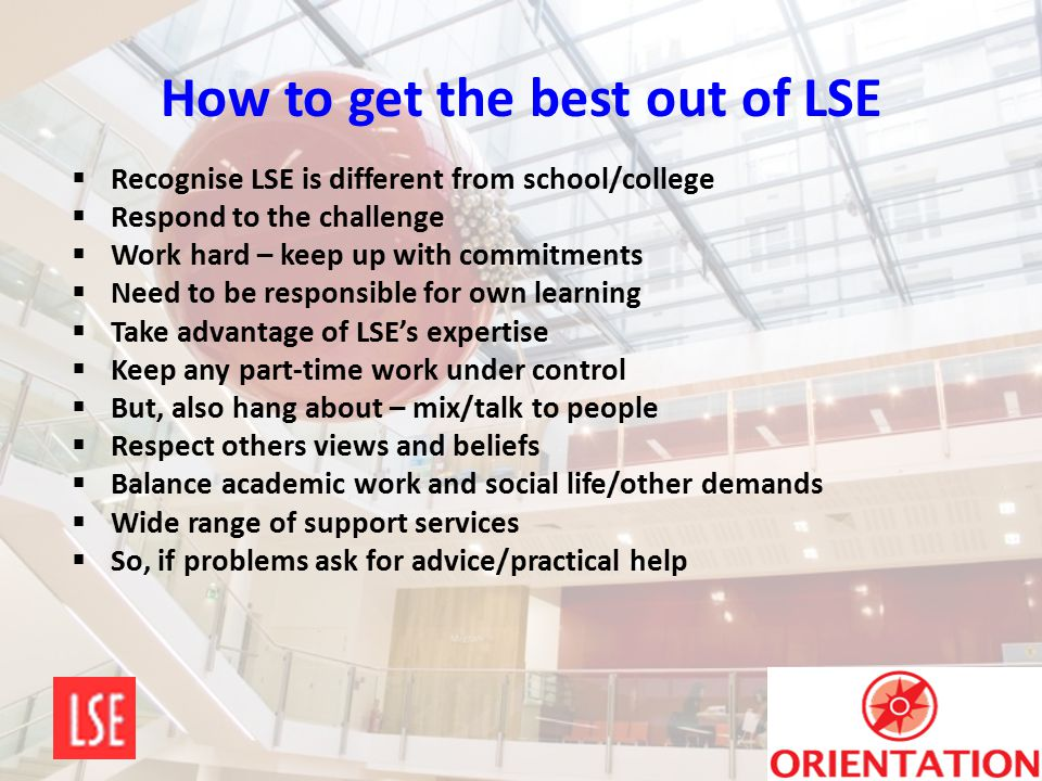 How to get the best out of LSE