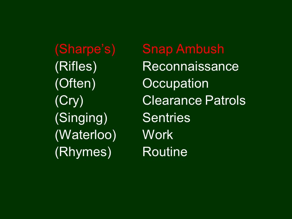 (Sharpe's) Snap Ambush