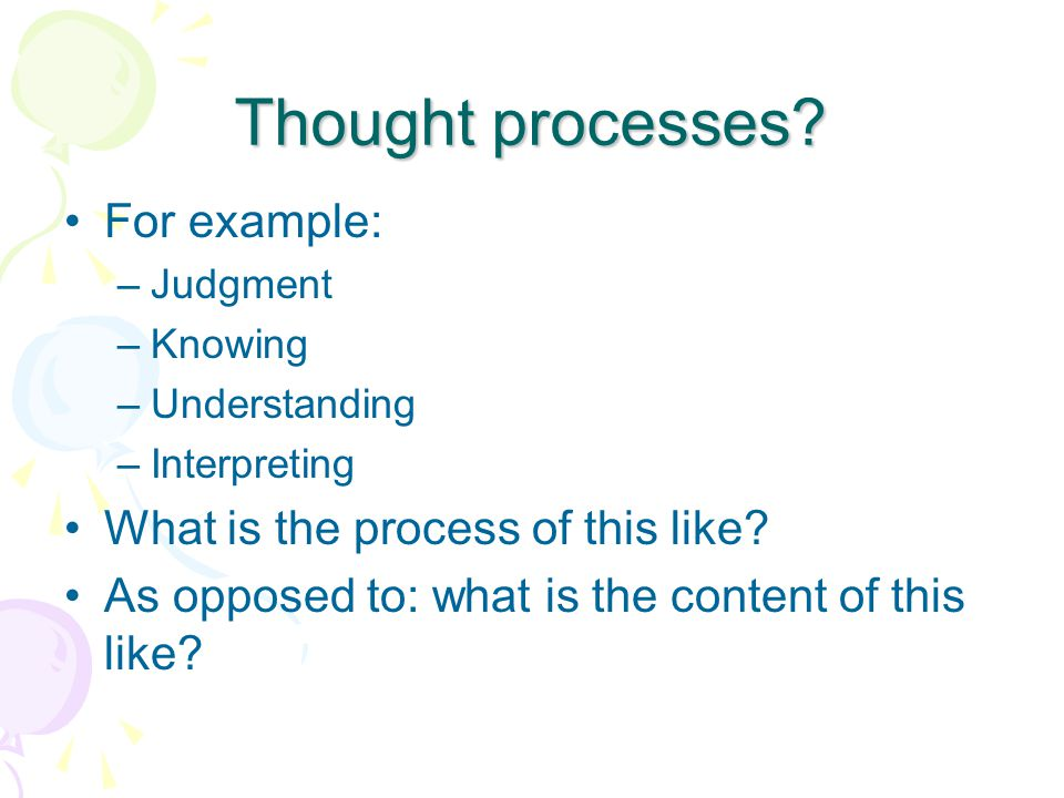 how to develop thought process