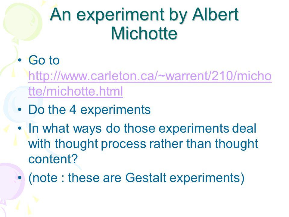 An experiment by Albert Michotte