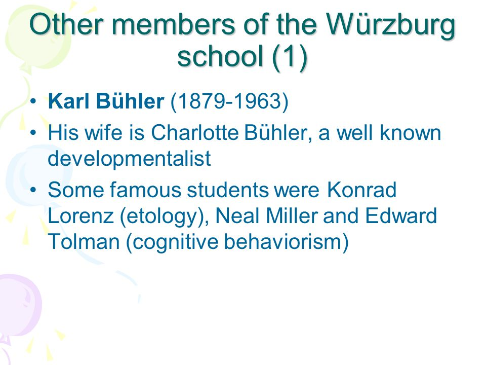 Other members of the Würzburg school (1)