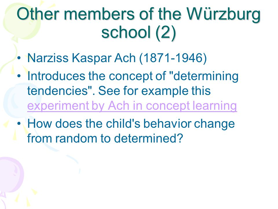 Other members of the Würzburg school (2)