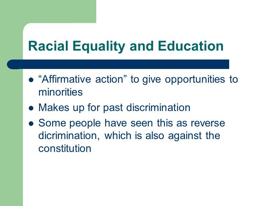 Racial Equality and Education