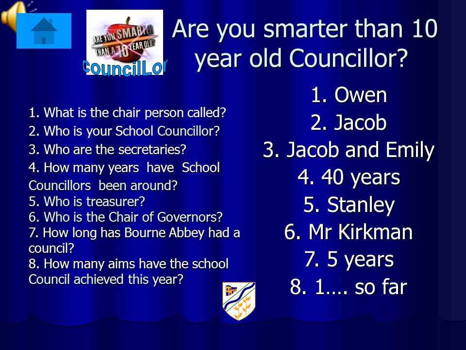 Are you smarter than 10 year old Councillor