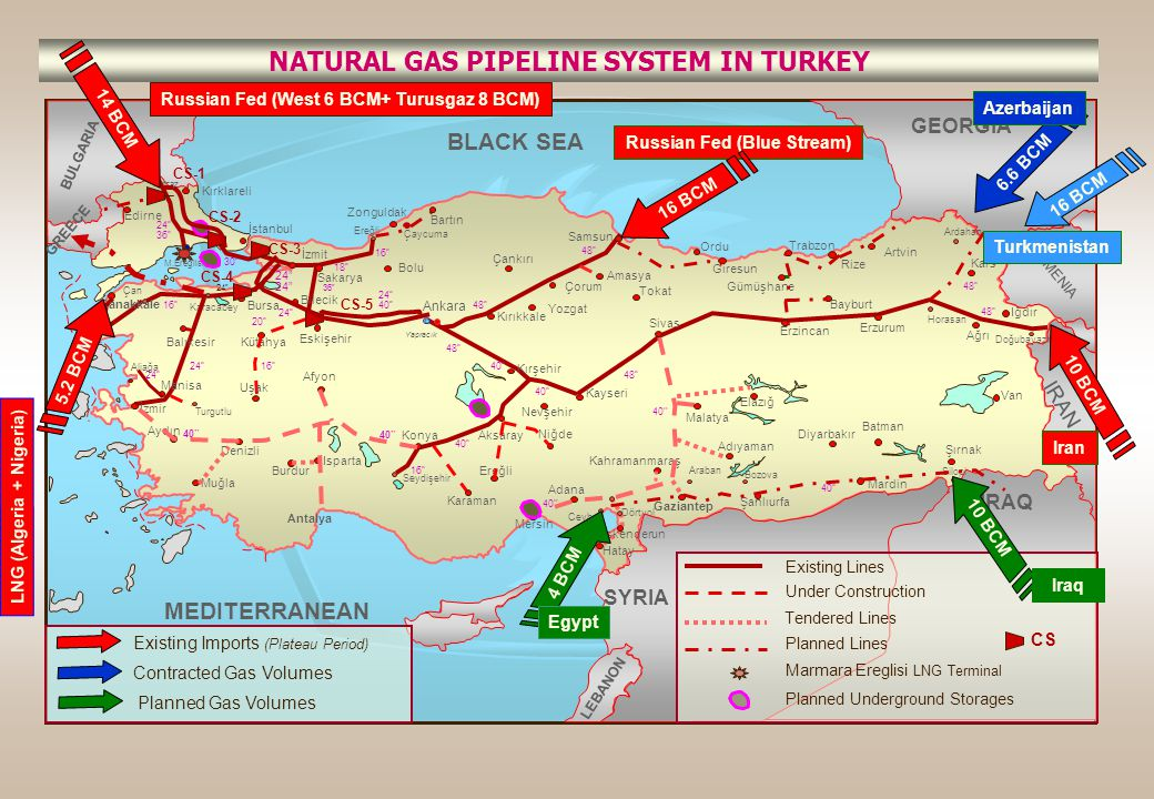 NATURAL GAS PIPELINE SYSTEM IN TURKEY