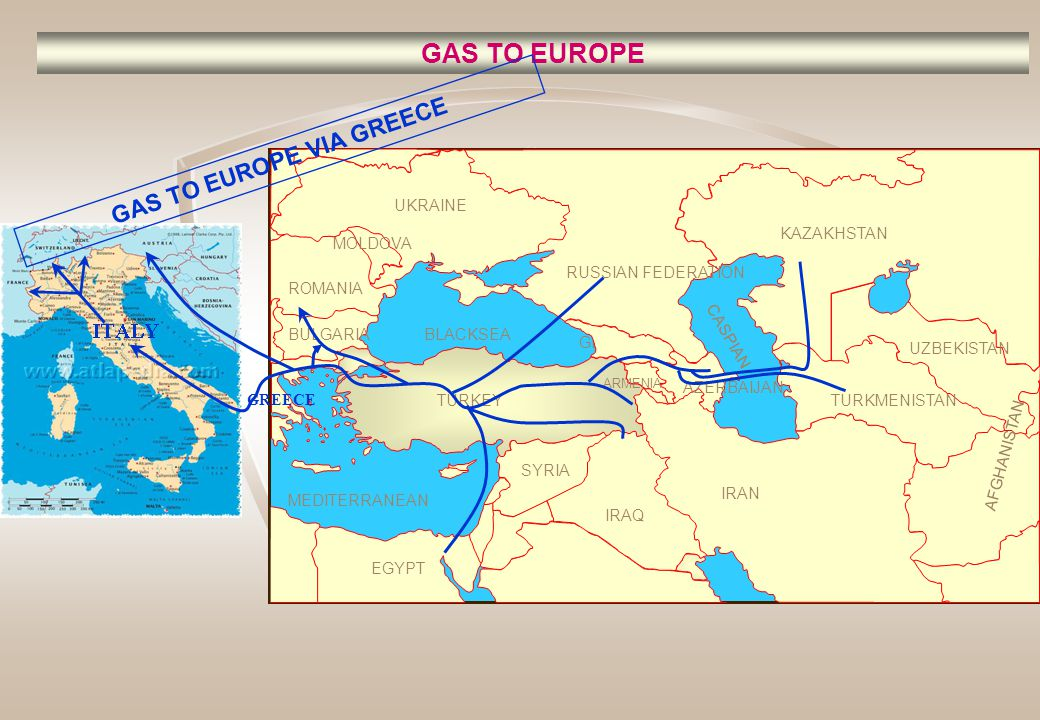 GAS TO EUROPE VIA GREECE