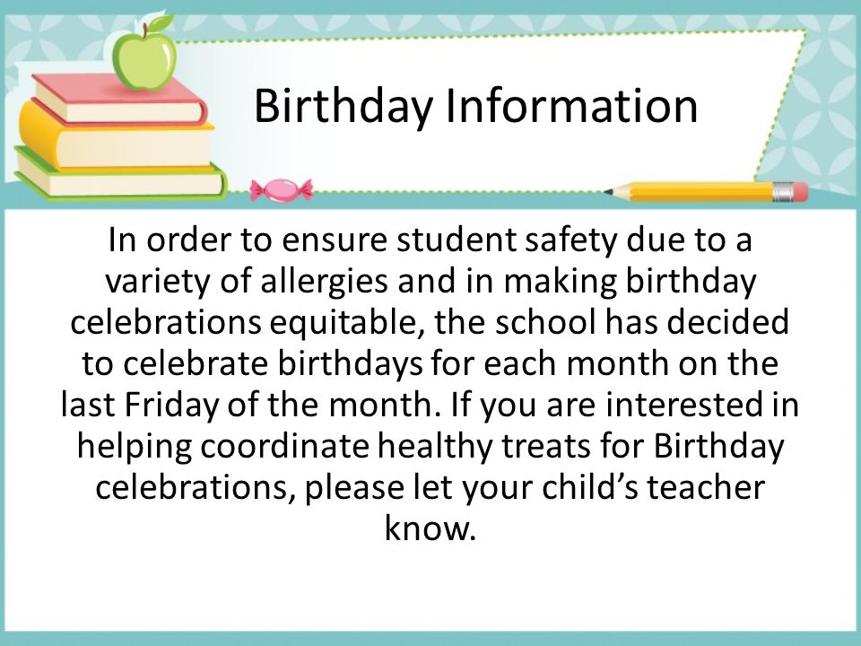 Birthday Information