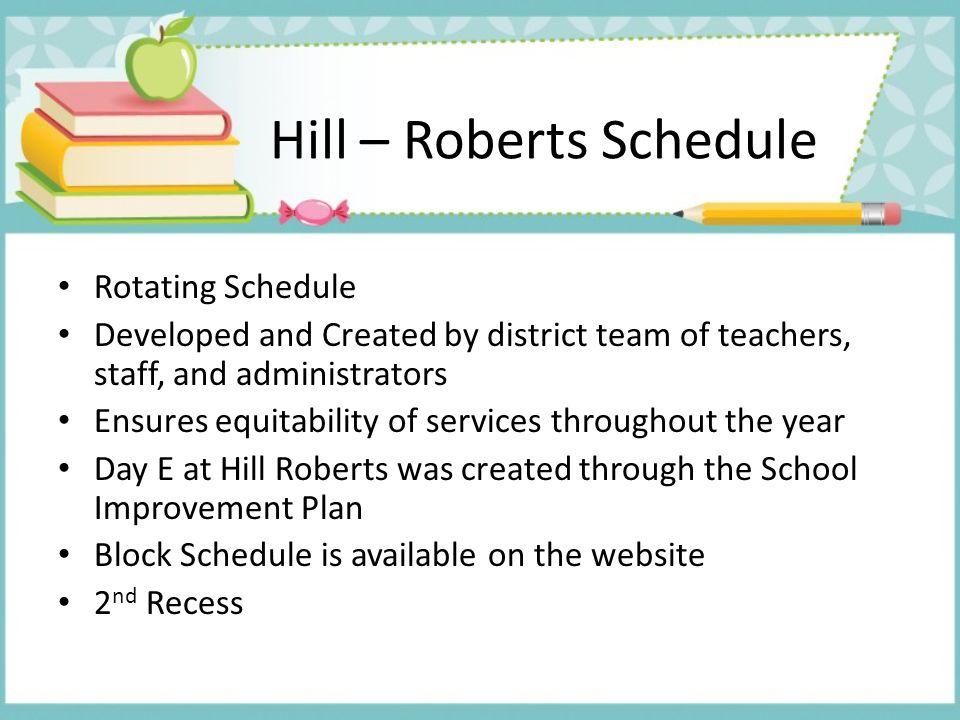 Hill – Roberts Schedule