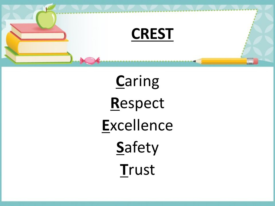 Caring Respect Excellence Safety Trust