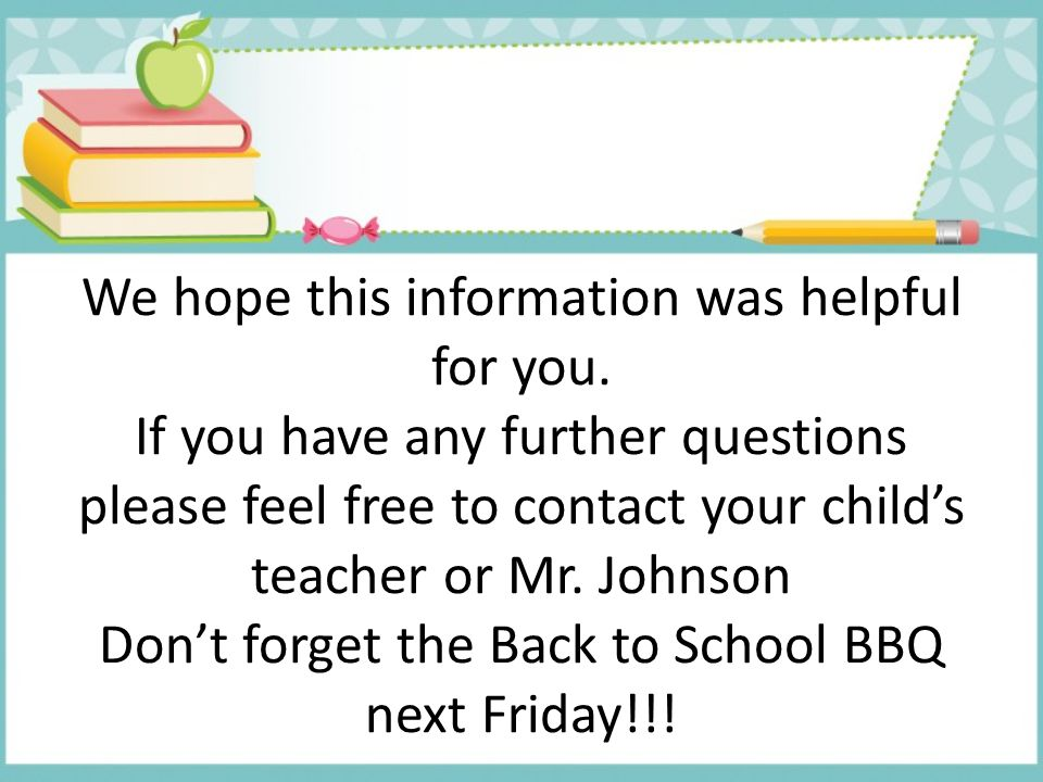 We hope this information was helpful for you