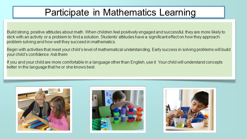 Participate in Mathematics Learning