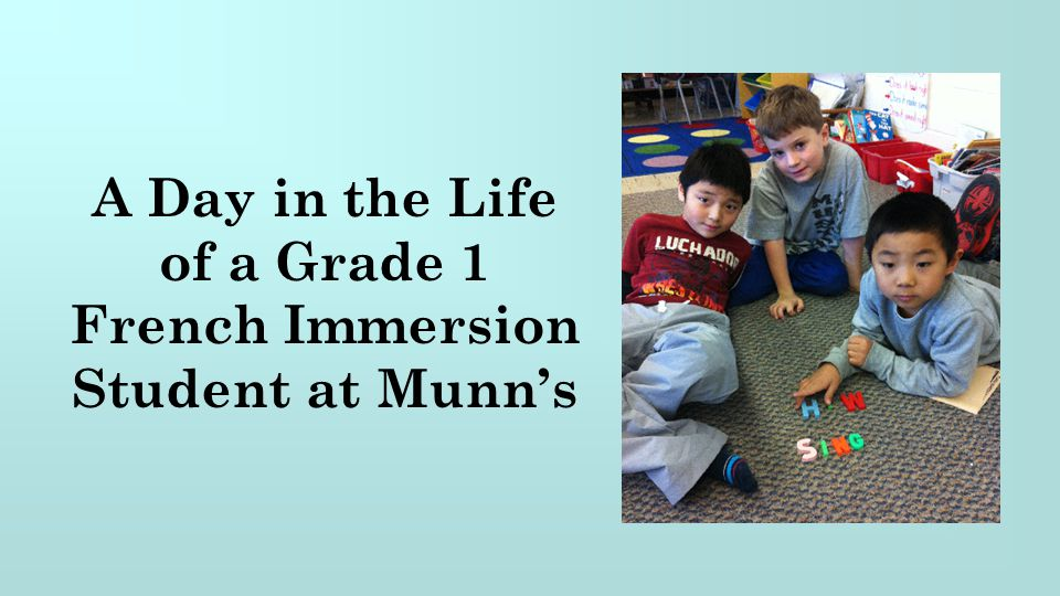 French Immersion Student at Munn's