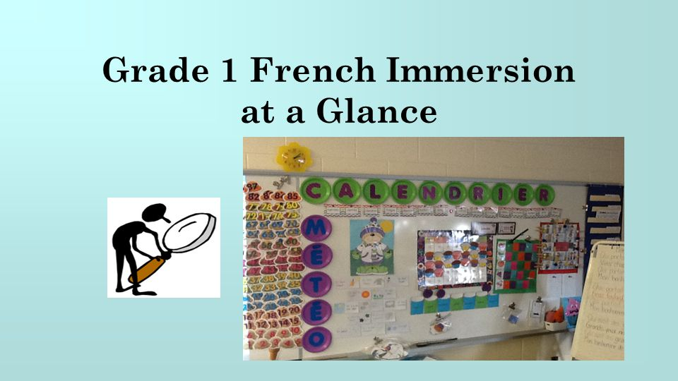 Grade 1 French Immersion