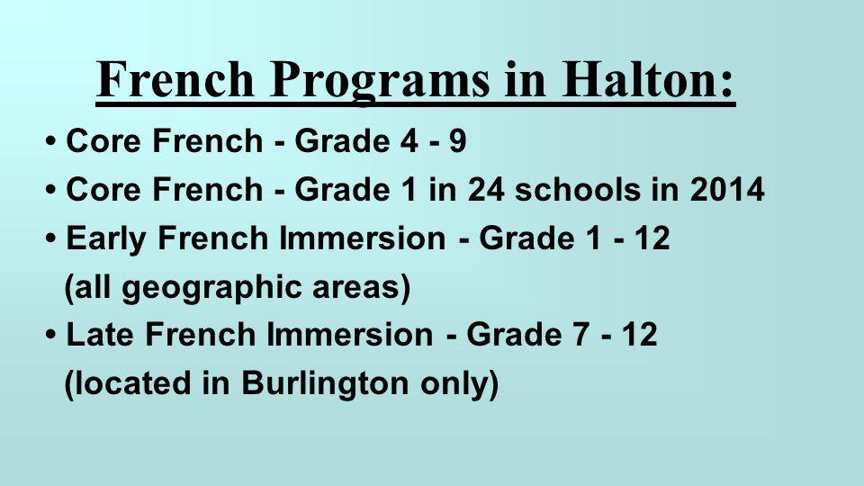 French Programs in Halton: